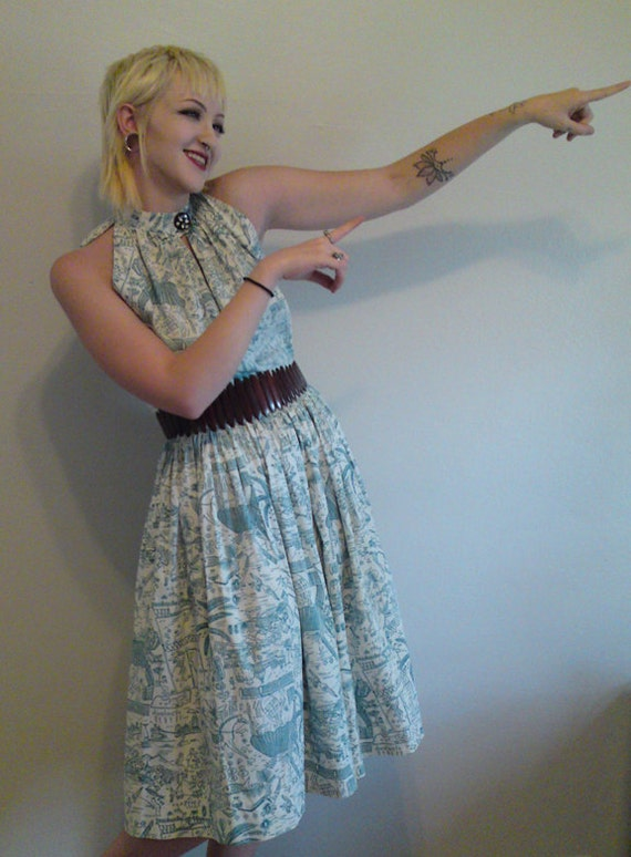 Vintage Halter Dress Late 40s-Early 50s