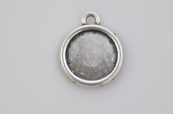 20 Antique Silver Cameo Cab Frame Blank Setting Charms   Etsy