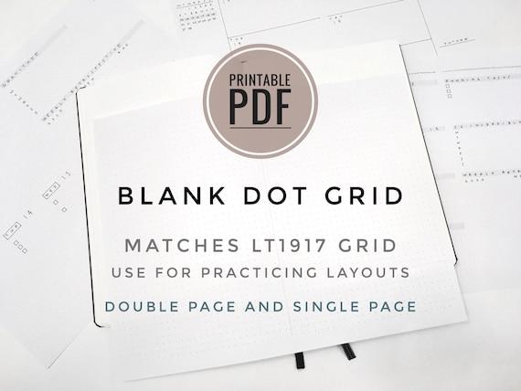 Pdf Imprimable Journal Vierge Modèle Planificateur Pour 5mm Grilles Grille De Points Lettre Et A4 Size Double Page Et Seule Page Spread