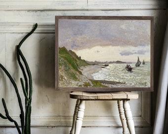 Seashore | Vintage Art Wood Framed Sign, Vintage Wall Art, Vintage Oil Painting Sign, Vintage Sign, Farmhouse Vintage Art, Farmhouse Signs