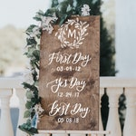 Wedding Welcome Sign - Our Love Story Sign - First Day, Yes Day, Best Day Wedding Sign - Wooden Wedding Signs - Wood Wedding Sign - Q1