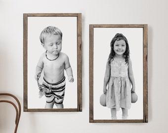 Framed Photo Wall Art | Farmhouse Photo Wall Art | Modern Farmhouse Decor | Farmhouse Signs | Custom Wood Framed Sign