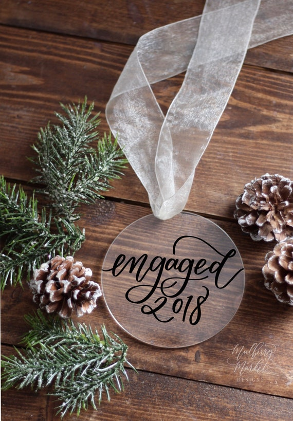 image 0 - Engaged Christmas Ornament Christmas Tree Ornament Bride And Etsy