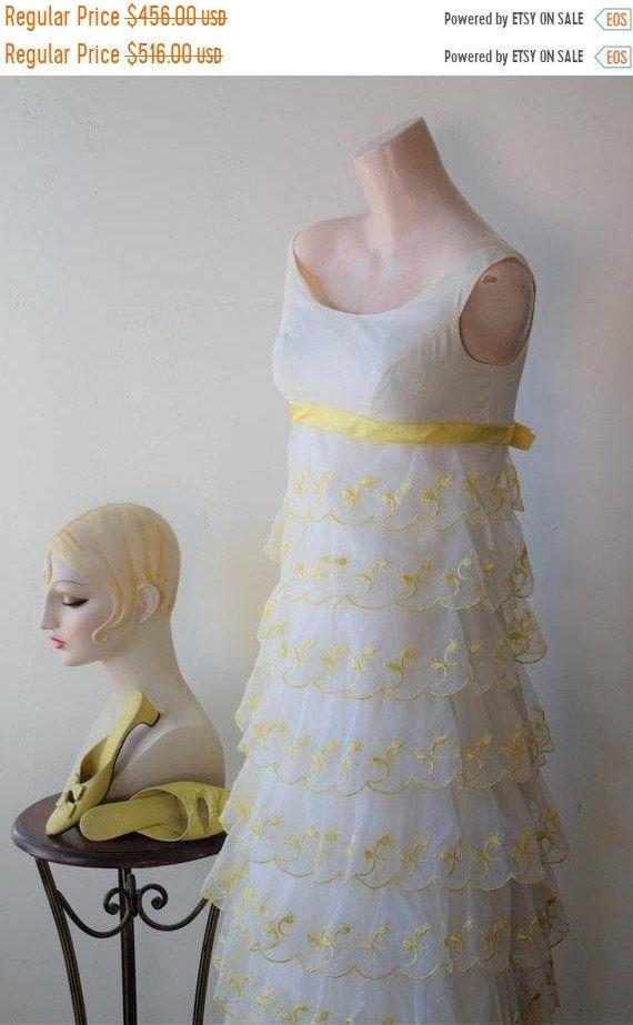 50% Savings Now Empire Waist Dress Yellow Formal D