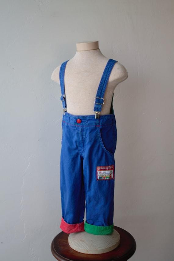 clown overalls pastel overalls Vintage Osh Kosh overalls vintage size 6 Made in USA lavender overalls osh kosh b/'gosh