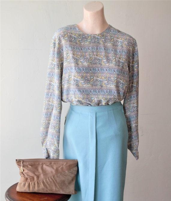 50% Savings Now Baroque Shirt Design Silk Satin B… - image 2