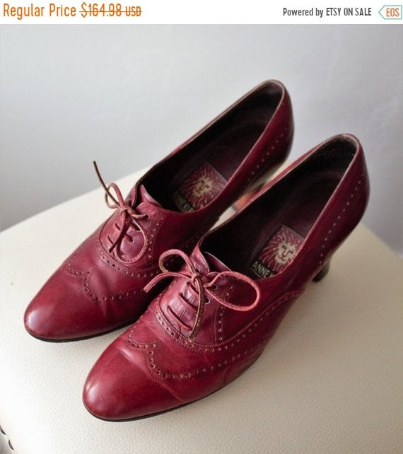 SAVE 50% Womens NOW Oxford Heels Womens 50% Oxfords Oxford Shoes Women Custom Wingtips Cap Toe Oxblood Leather Stacked Heel Shoes Anne Klein shoes 06aa92