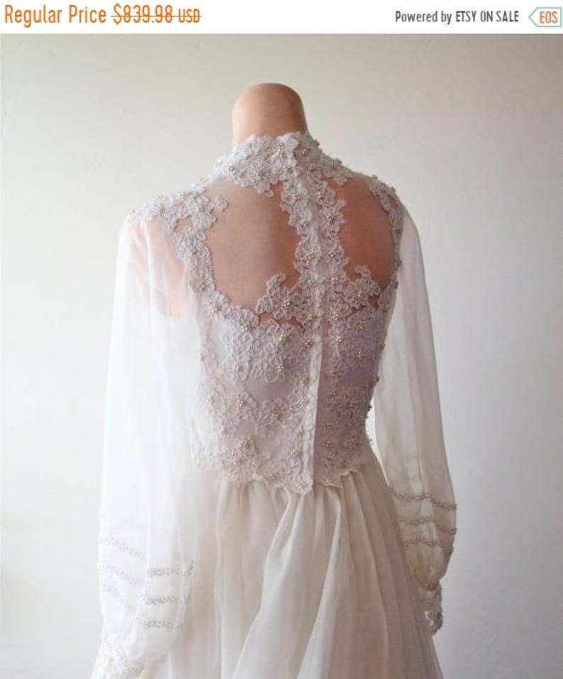 8a2f33c1bee SAVE NOW 50% OFF 70 s Wedding Dress White 70 s Chiffon