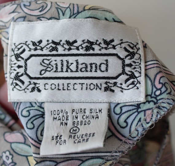 50% Savings Now Baroque Shirt Design Silk Satin B… - image 7