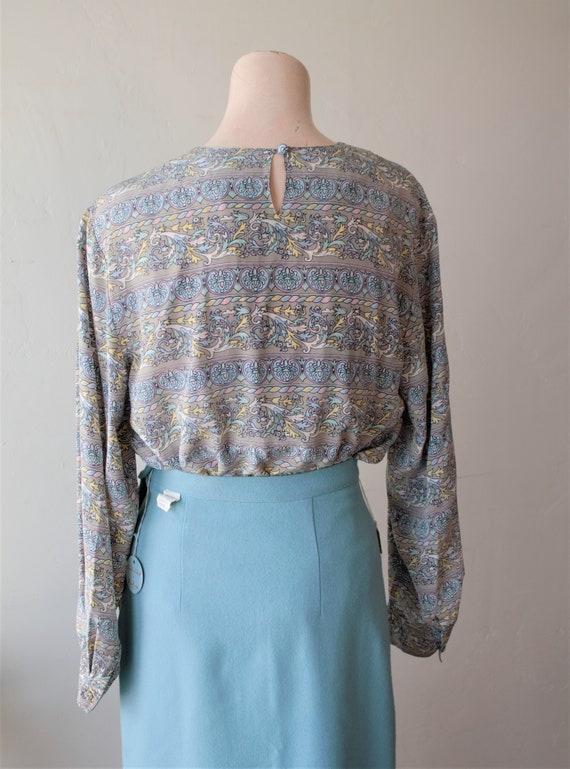 50% Savings Now Baroque Shirt Design Silk Satin B… - image 6