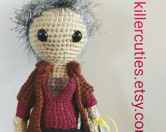 Carol from The Walking Dead. an amigirumi doll inspired by Carol from The Walking Dead