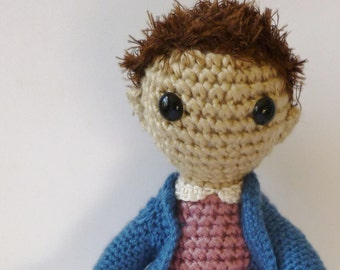 Eleven from Stranger Things, an Amigurumi doll inspired by Eleven from Stranger Things