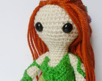 Poison Ivy, An Amigurumi doll inspired by Poison Ivy from DC Comics