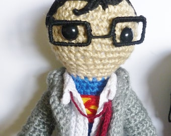 Clark Kent with his SUPERMAN suit showing