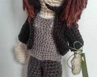 Kate Beckett from Castle, crochet doll inspired by Captain Kate Beckett from Castle