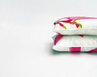 """Marimekko Keisarinna Pink Mini Pillow - 27 cm X 18 cm (10.6X7"""") - Small Decorative Cushion - Lumbar Pillow - Backrest Pillow - Neck Pillow"""