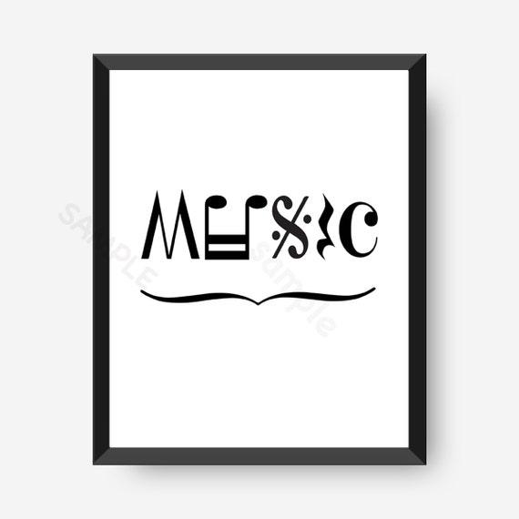 Musique Art Note De Musique Art Sticker Musique Note De Etsy