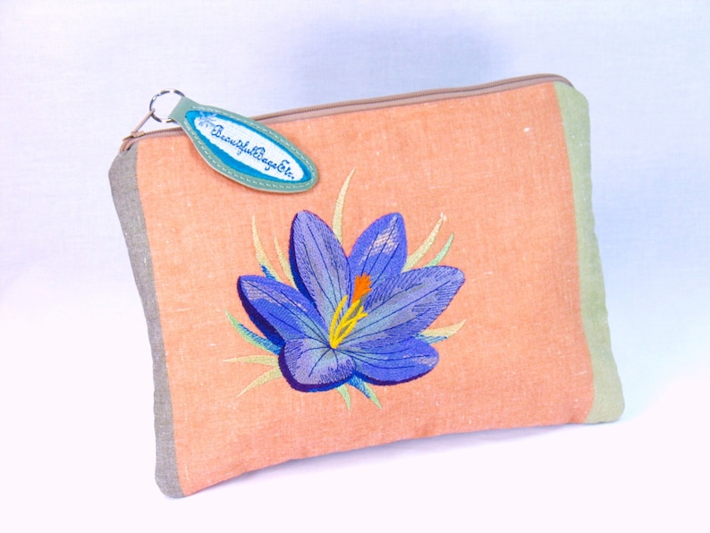 Spring Crocus Zipper Pouch for tablet or kindle