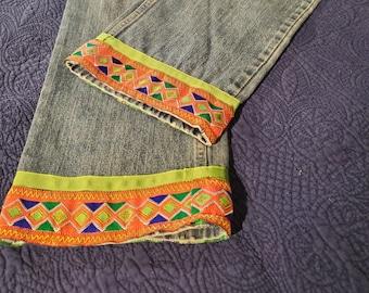 REmade Denim Girl's Geometric Jeans