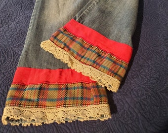 REmade Denim Fall into Plaid women's jeans