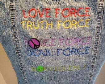 REmade Denim Nonviolence Vest