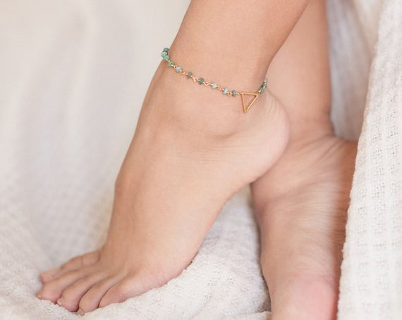 African Opal Anklet