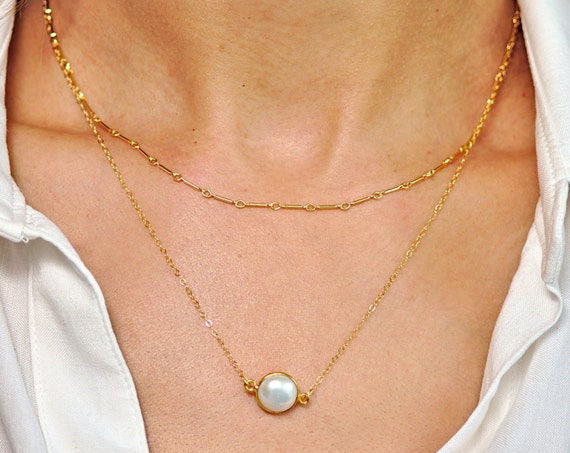 Small Freshwater Pearl Layered Necklace