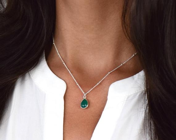 Tiny Emerald Necklace