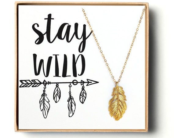 Stay Wild Feather Necklace