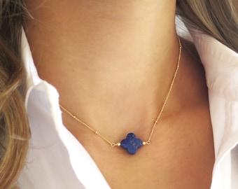Dainty Lapis Necklace, Gold Lapis Lazuli Necklace, Lapis Choker, Lapis Jewelry, Lapis Lazuli Jewelry, Blue Lapis, Navy Lapis, Gold Necklace