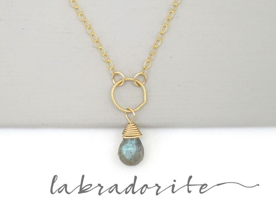 Dainty Labradorite Necklace