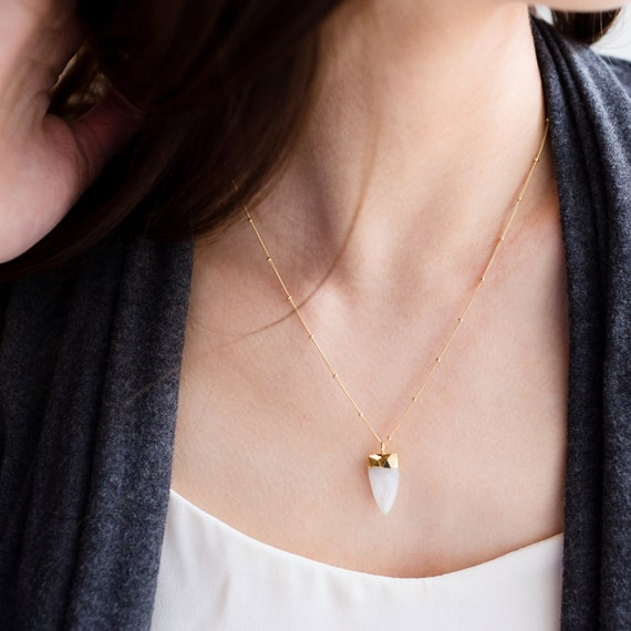 Moonstone Point Necklace