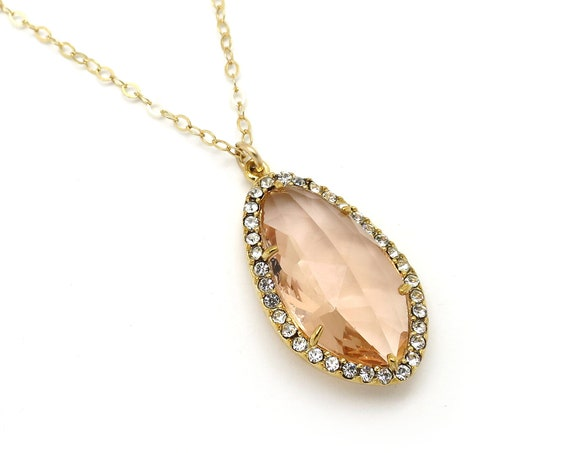 Champagne Pave Pendant