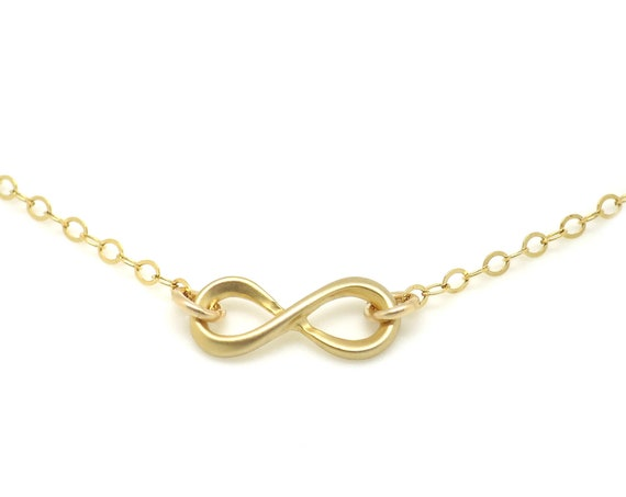 Small Gold Infinity Necklace