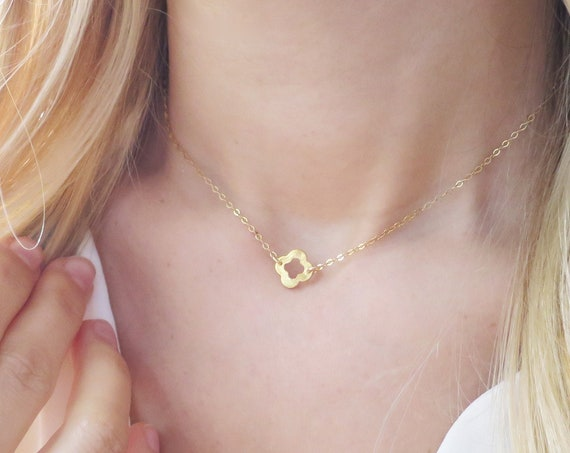 Gold Quadrifoil Necklace