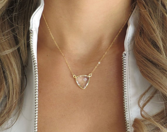 Crystal Trilliant Necklace