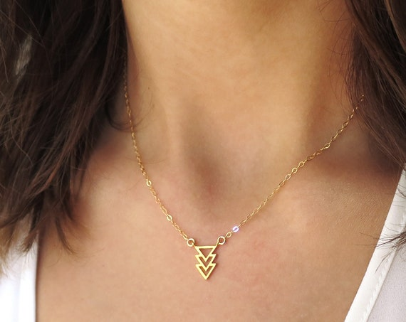 Dainty Triangle Necklace