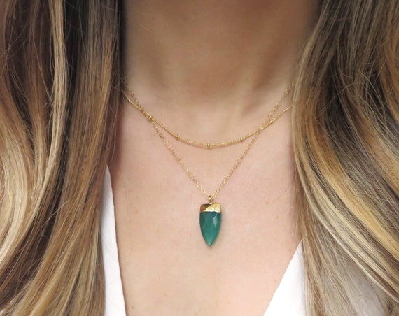 Emerald Point Necklace