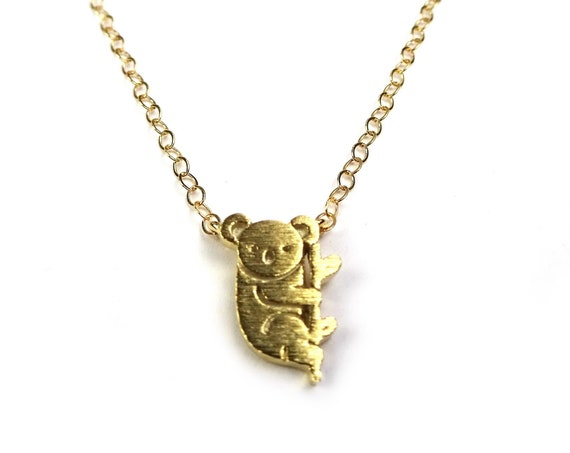 Gold Koala Necklace