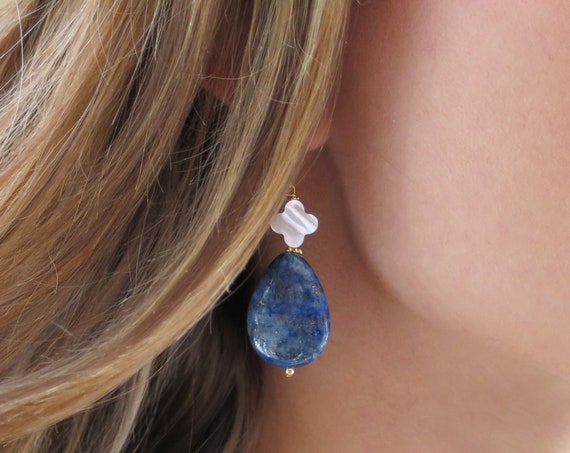 Lapis Clover Earrings
