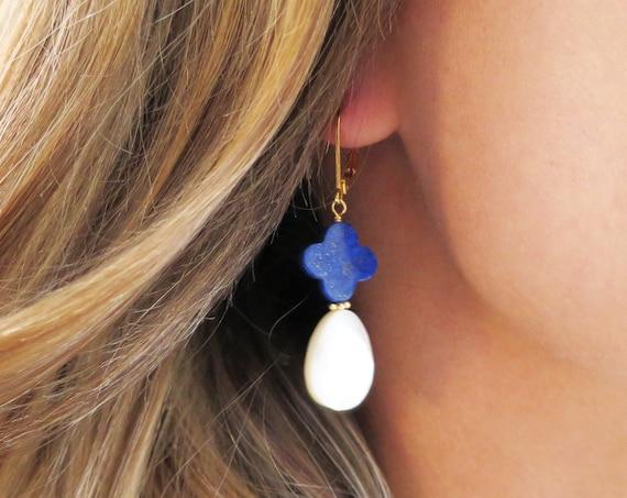 Lapis Lazuli Dangle Earrings