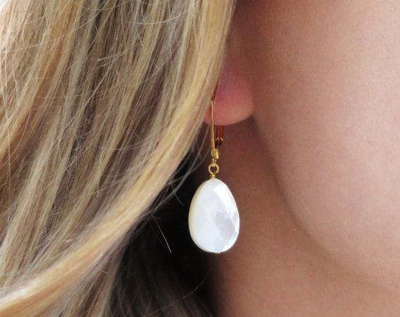 White Shell Earrings