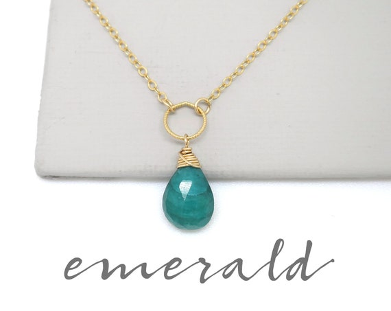 Small Emerald Pendant