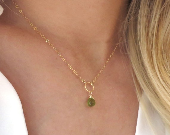 Dainty Peridot Necklace