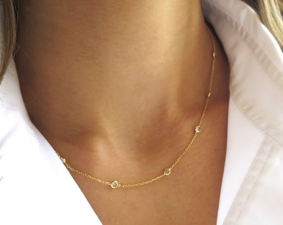 Gold Everyday Station Necklace