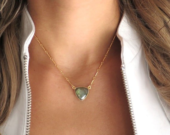 Labradorite Trilliant Necklace