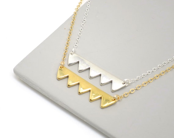 Minimal Mountain Necklace