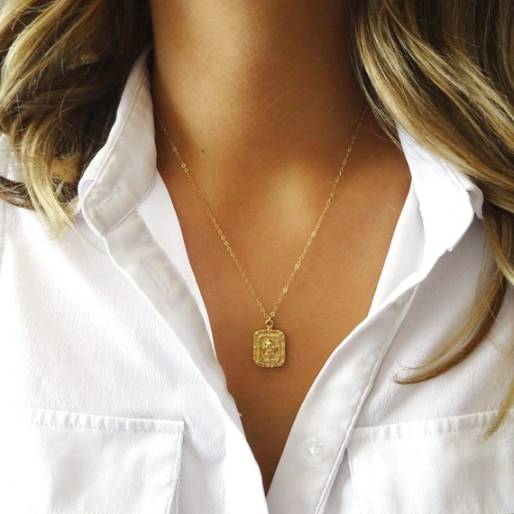 Gold Fleur de Lis Layer Necklace