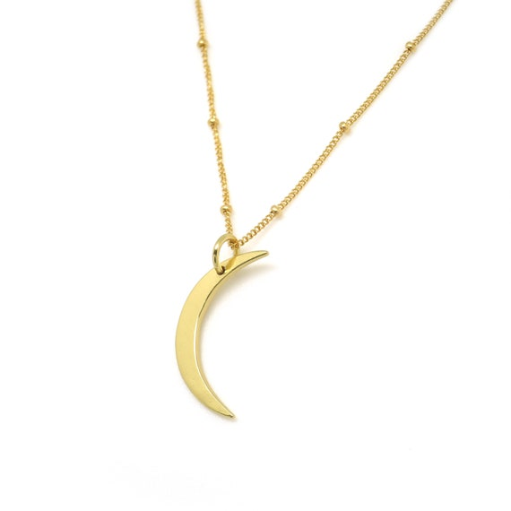 Gold Cresent Moon Necklace