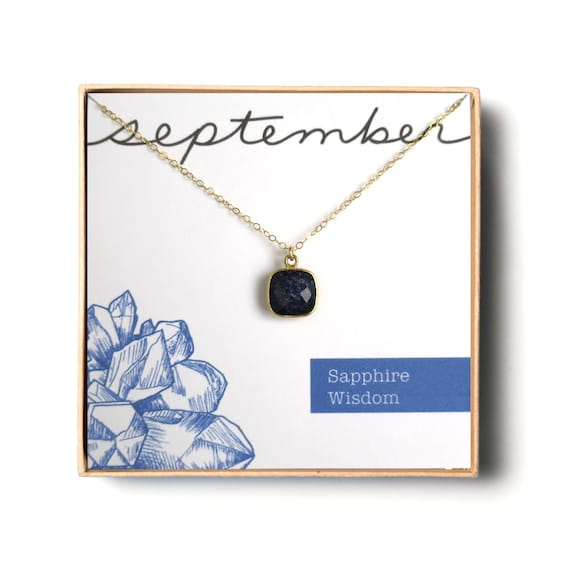 Small Sapphire Necklace on Satellite